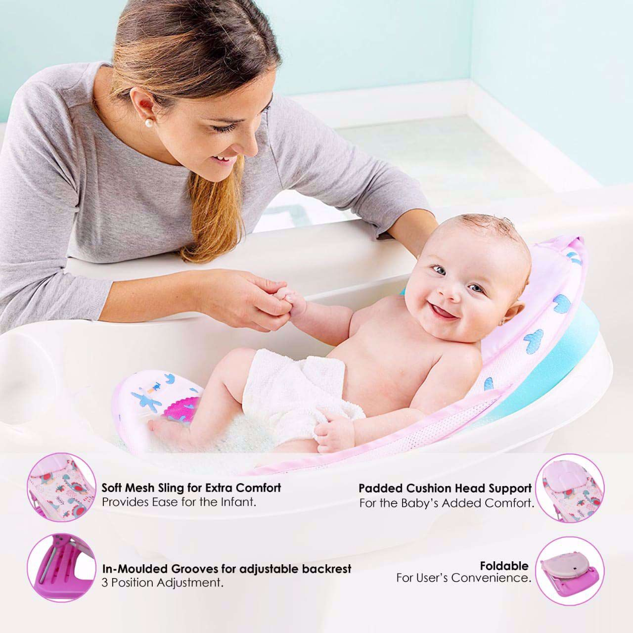 Baby Bather Squirrel- Pink