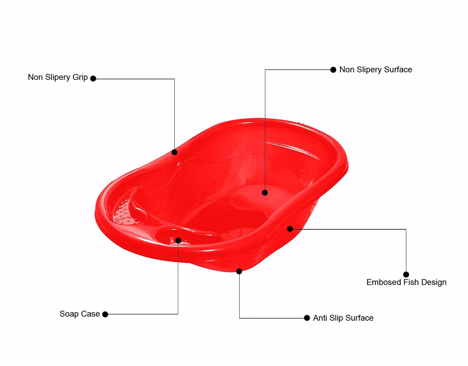 Baby Bather Tub -Red