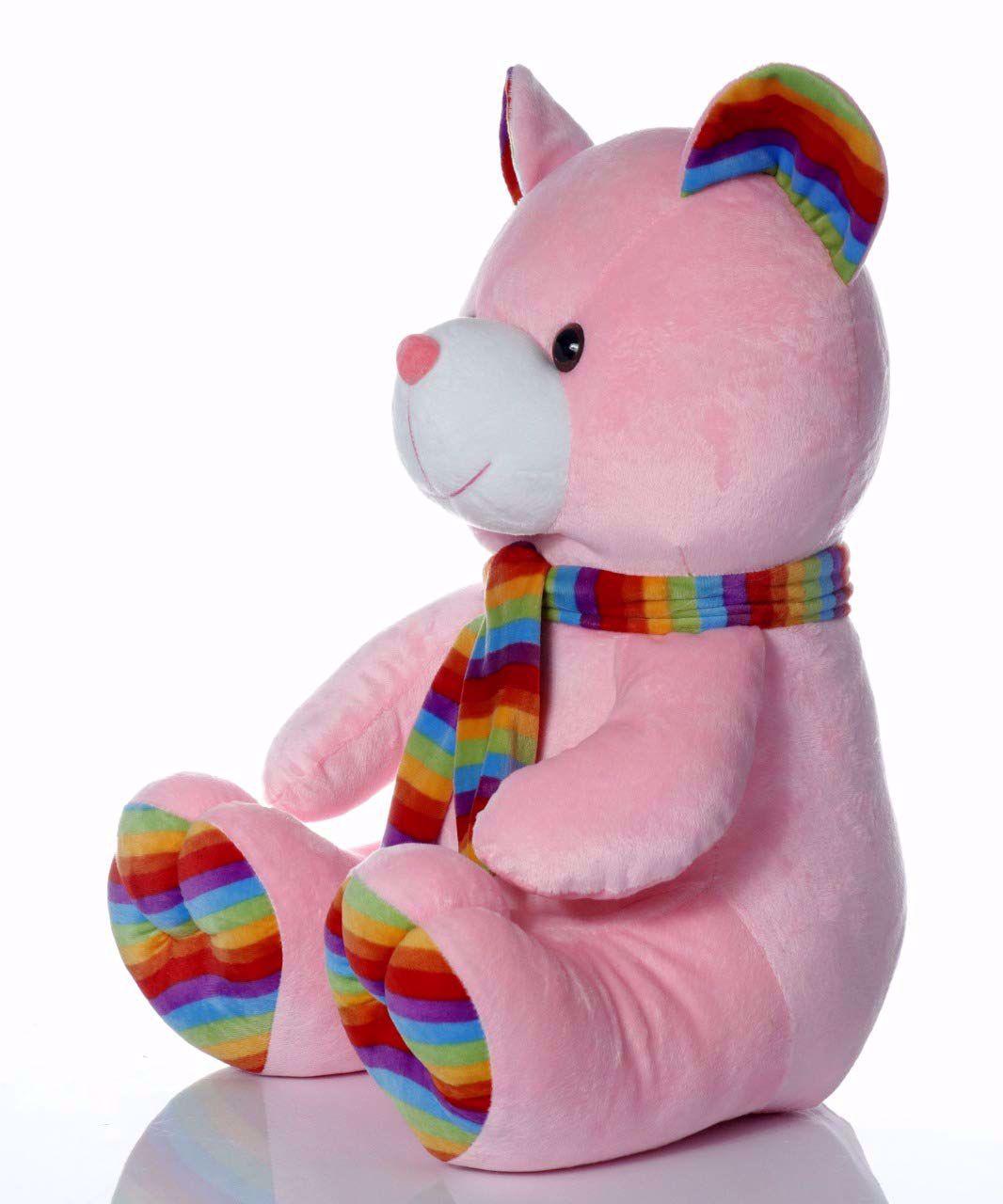 Muffler Teddy Bear-Pink