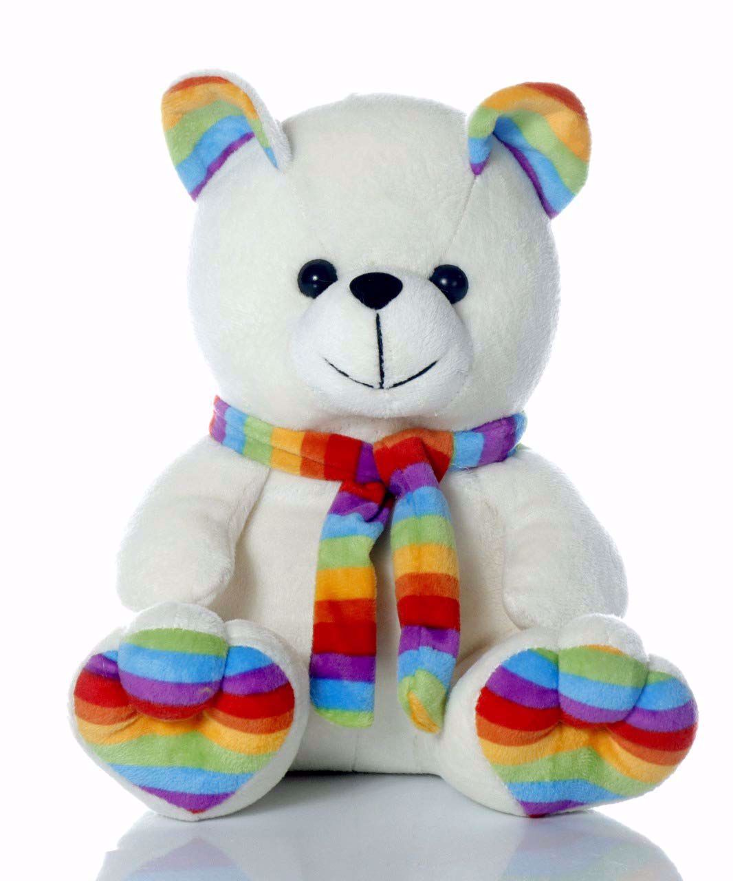 Muffler Teddy Bear-White