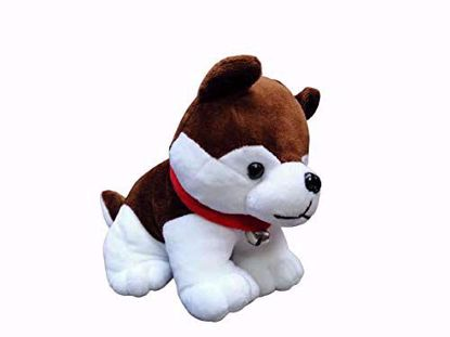 Baby Dog White & Brown-25 Cm