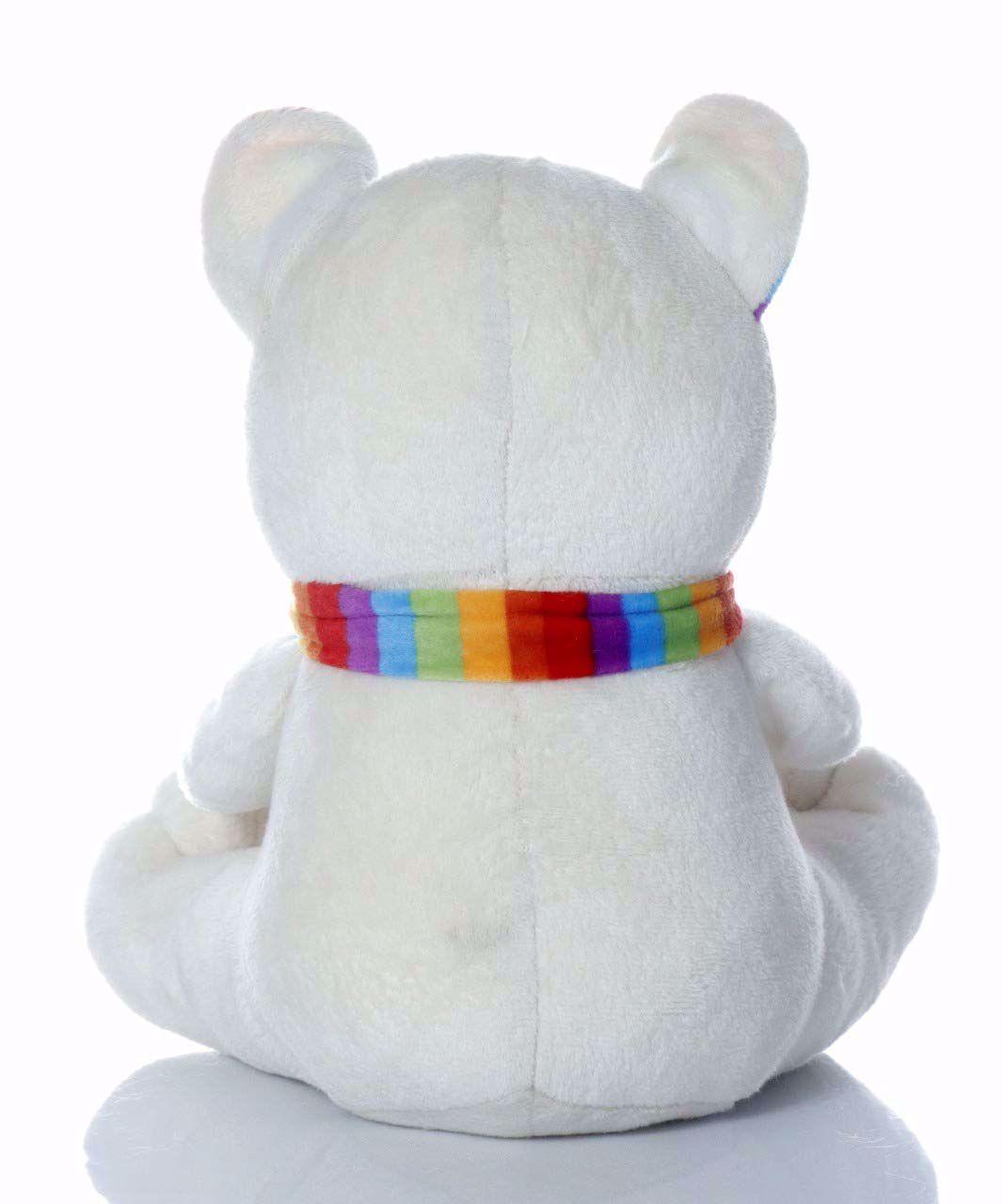 Muffler Teddy Bear White-35 Cm