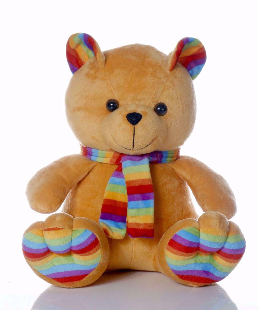 Muffler Teddy Bear Brown -35 Cm