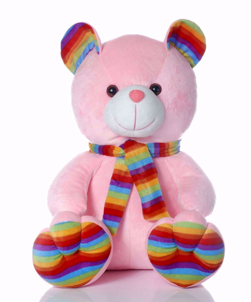 Muffler Teddy Bear Pink -35 Cm