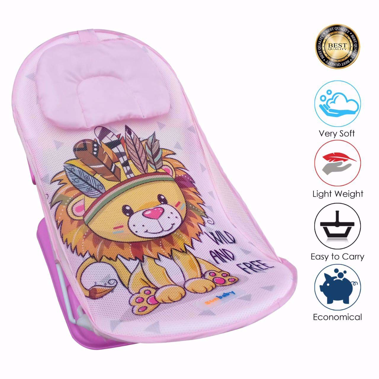 Baby Bather Lion -Pink