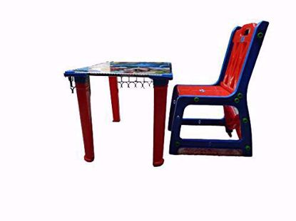 Table & Chair - Red & Blue