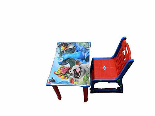 Chair  & Table-Blue & Red