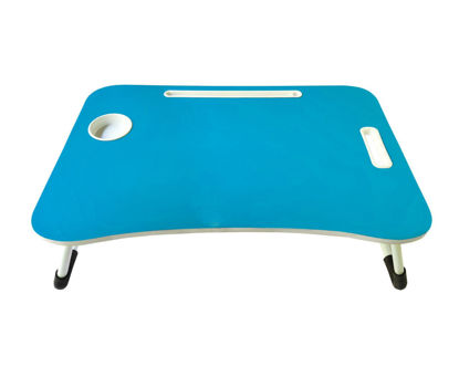 Wooden Bed Table -Blue
