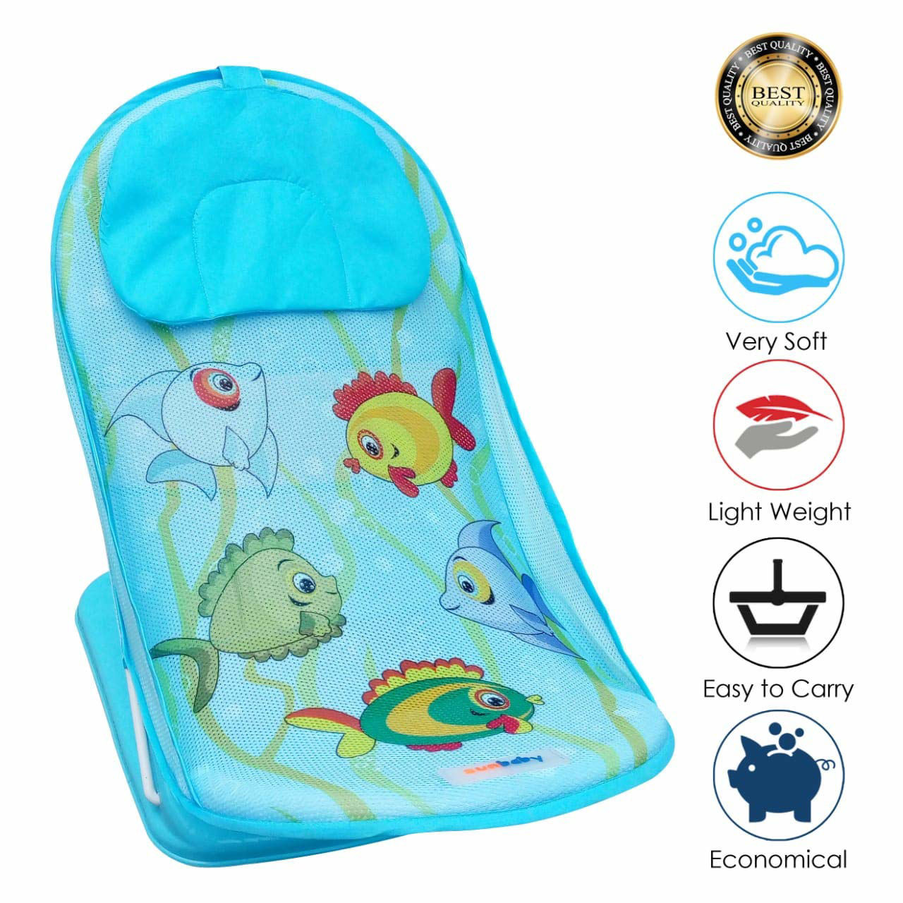 Baby Bather Fish-Blue