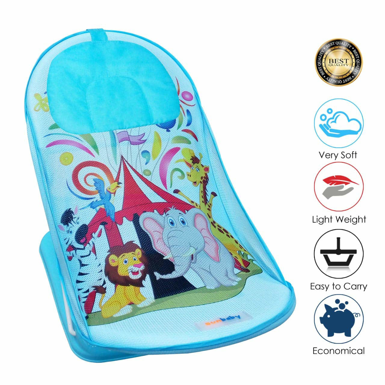 Baby Bather Lion And Elephant- Blue