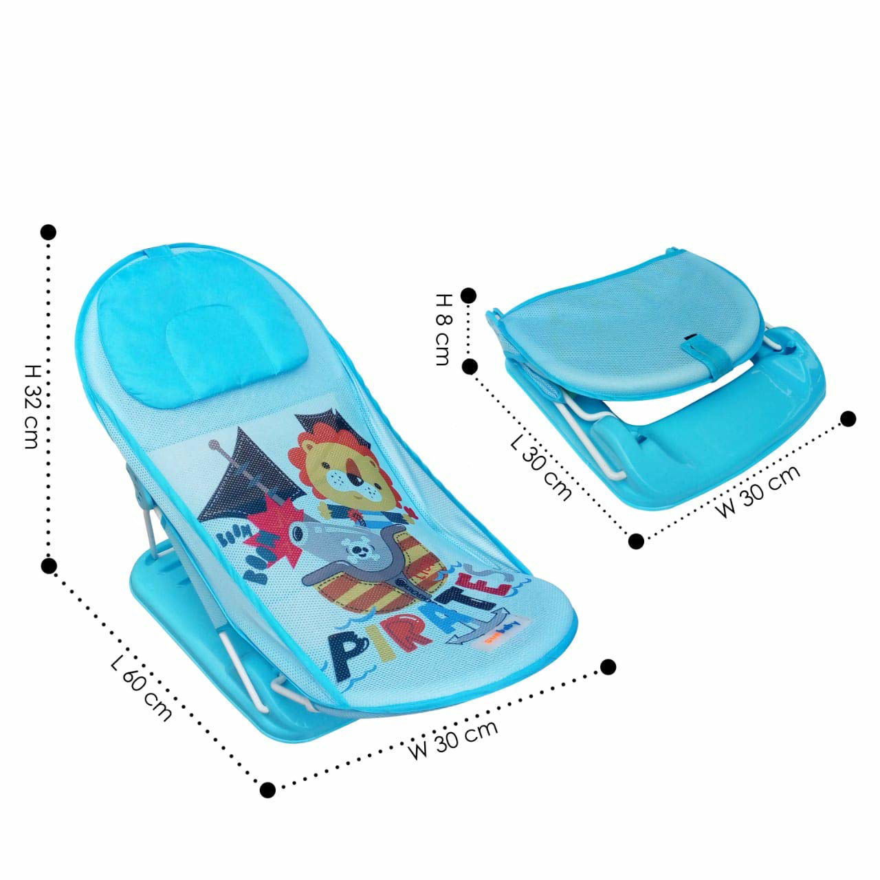 Baby Bather Cushion-Blue
