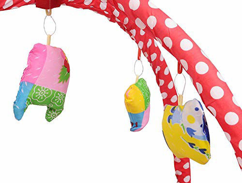 Play Gym with Mosquito Net and Baby Bedding Set -Red