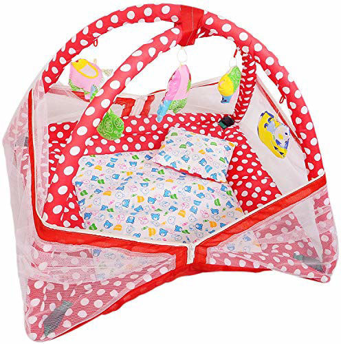 Picture of Play Gym with Mosquito Net and Baby Bedding Set -Red