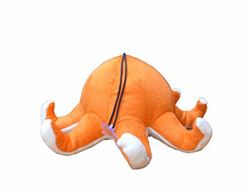 Octopus Soft Toy for Kids 23 cm Orange