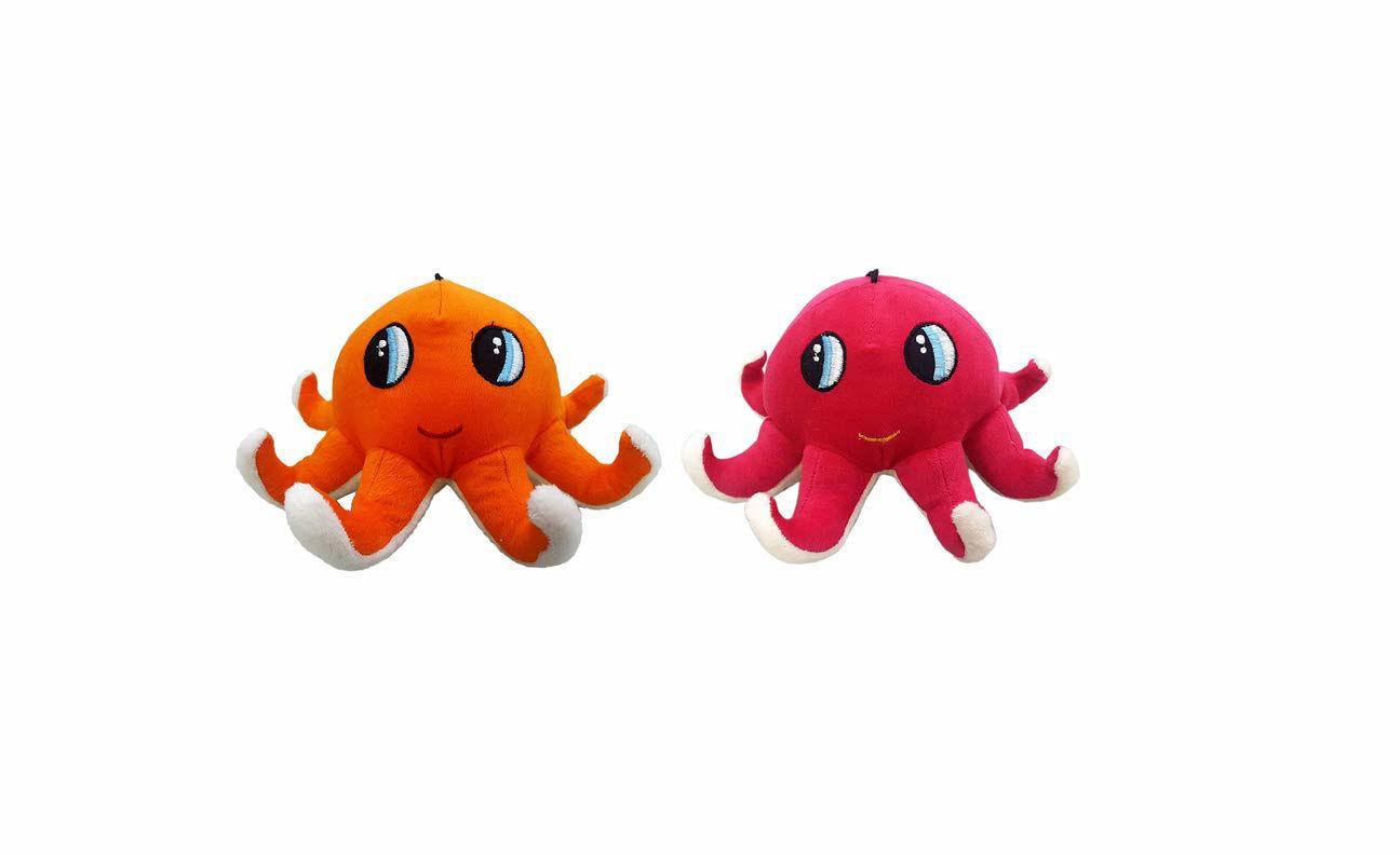 Octopus 23 cm -Pink & Orange