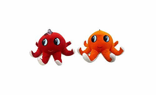 Baby  Octopus Soft Toy 23 cm -Red & Orange Combo of 2