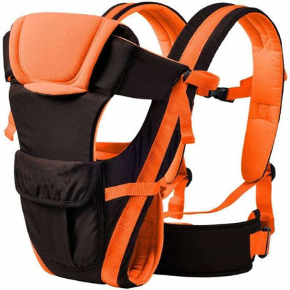 4-in-1 Adjustable Baby Carrier Bag- Orange