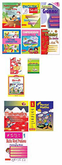 Picture of Scholars Hub Workbook Set For Class 1 English,Hindi, Maths, -Set Of 12 Books