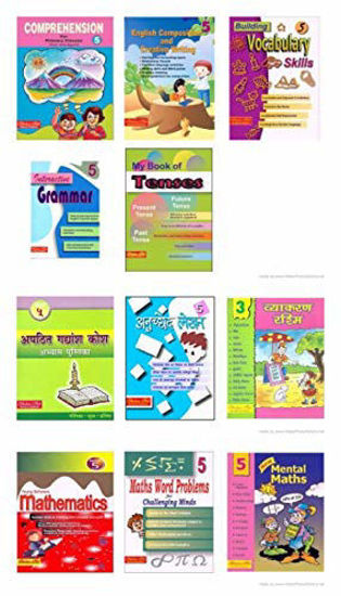 Picture of SCHOLARS HUB WORKBOOK SET FOR CLASS 5 (ENGLISH, HINDI, MATHS) -SET OF 11 BOOKS